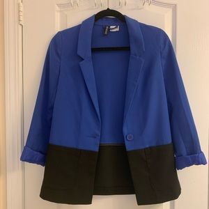 Blue and black blazer